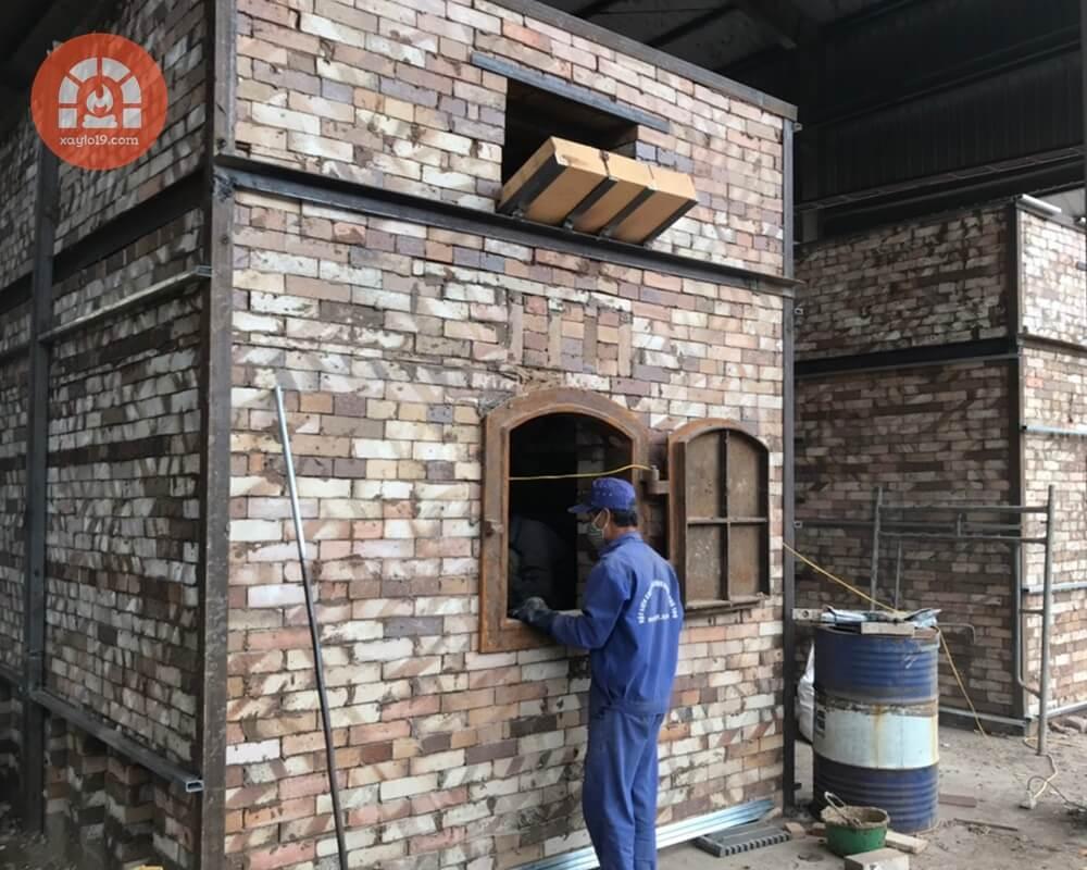 Dịch vụ xây lò sấy mùn cưa trong hệ thống sản xuất viên nén